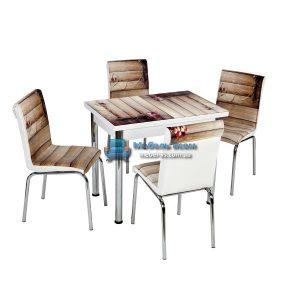 Стол + 4 стула Лотос NK CB-100 60x90-150