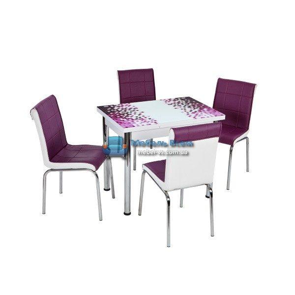 Стол + 4 стула Лотос NK CB-103 60x90-150