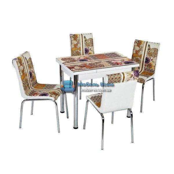 Стол + 4 стула Лотос NK CB-104 60x90-150