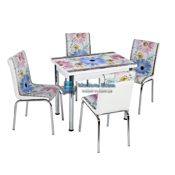 Стол + 4 стула Лотос NK CB-106 60x90-150