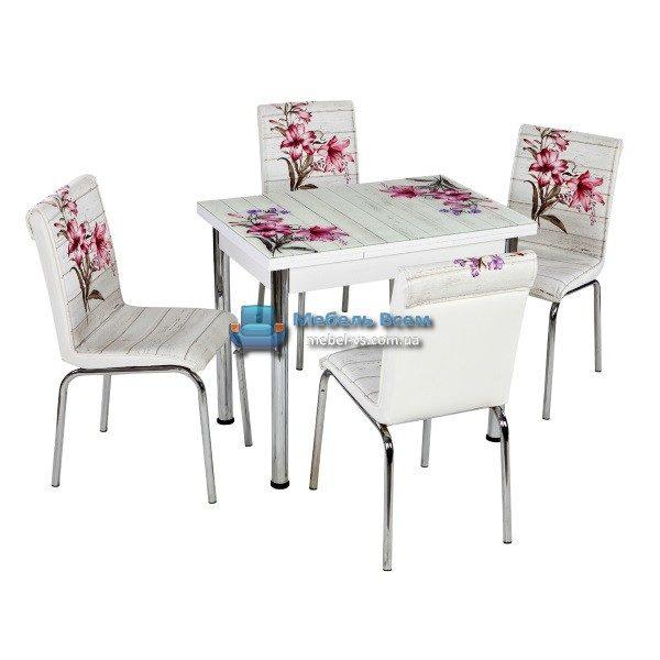 Стол + 4 стула Лотос NK CB-108 60x90-150