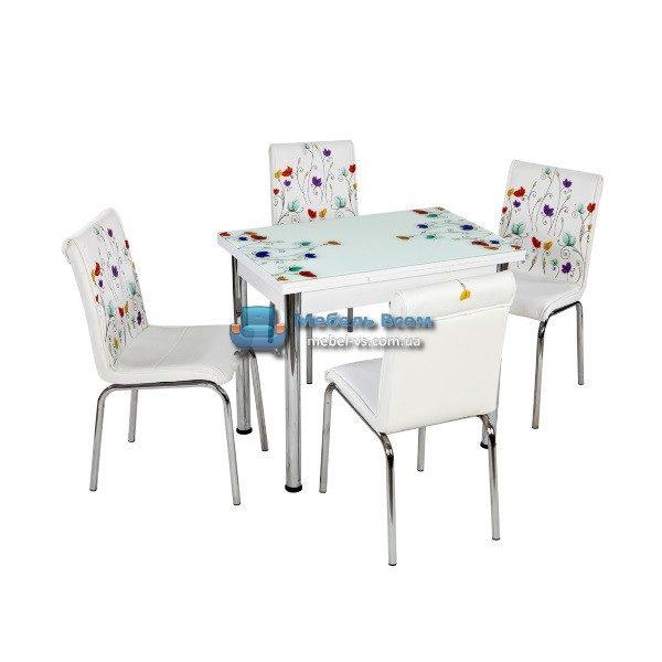 Стол + 4 стула Лотос NK CB-109 60x90-150