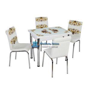 Стол + 4 стула Лотос NK CB-110 60x90-150