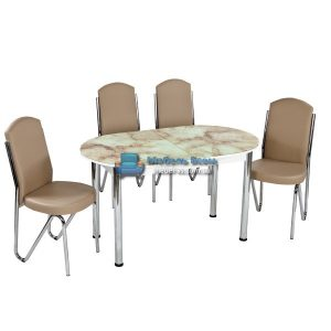 Стол + 4 стула Лотос NK ELIPS-008 75x130-160