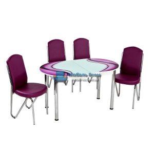 Стол + 4 стула Лотос NK ELIPS-011 75x130-160