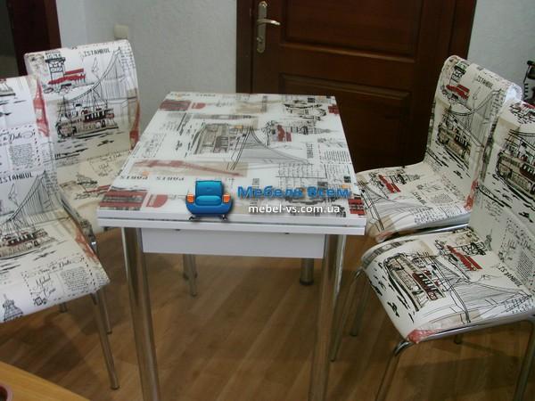 Стол + 4 стула Лотос SK CB-039 70x110-170 фото
