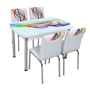 Стол + 4 стула Лотос SK OCB-005 75x120-180