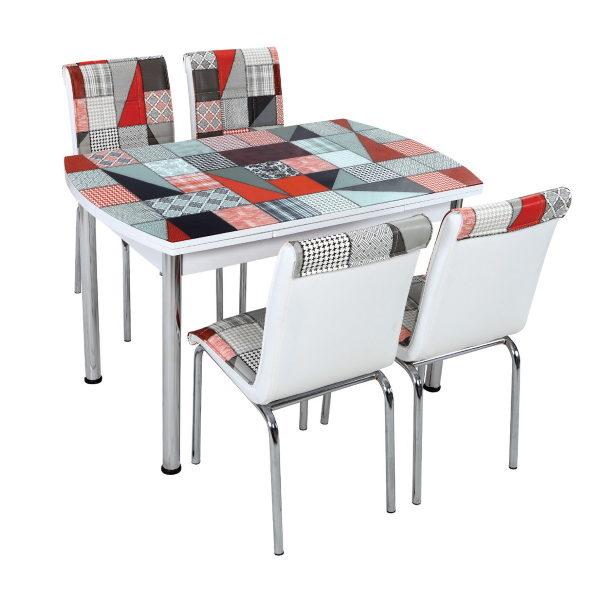 Стол + 4 стула Лотос SK OCB-008 75x120-180