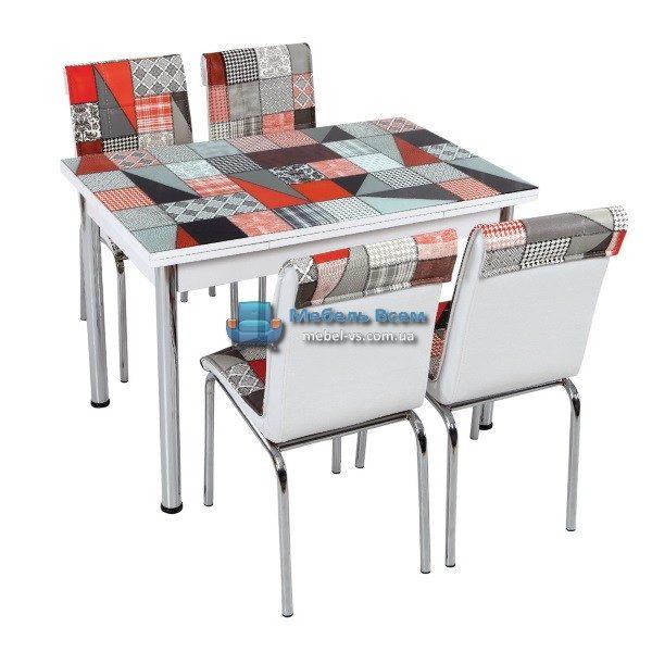 Стол + 4 стула Лотос SK CB-003 70x110-170