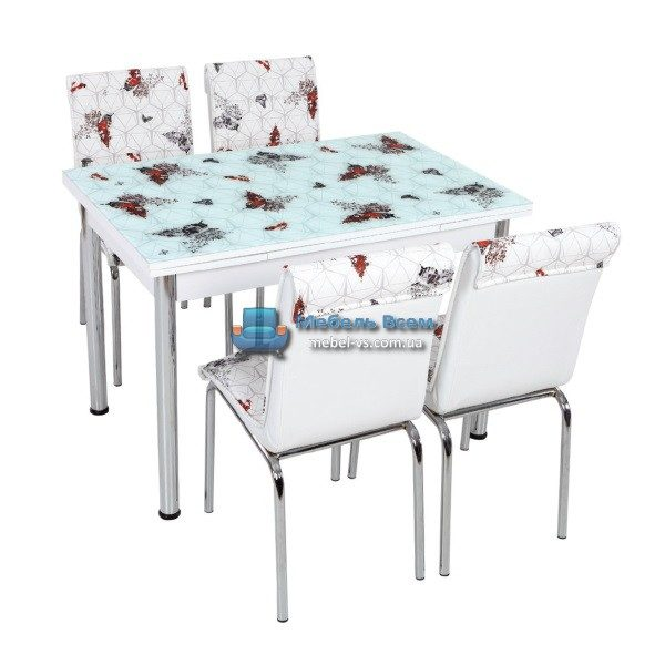 Стол + 4 стула Лотос SK CB-007 70x110-170