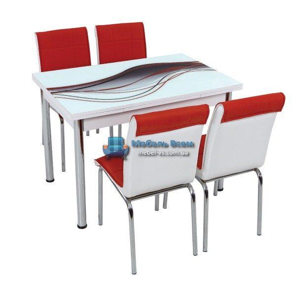 Стол + 4 стула Лотос SK CB-015 70x110-170