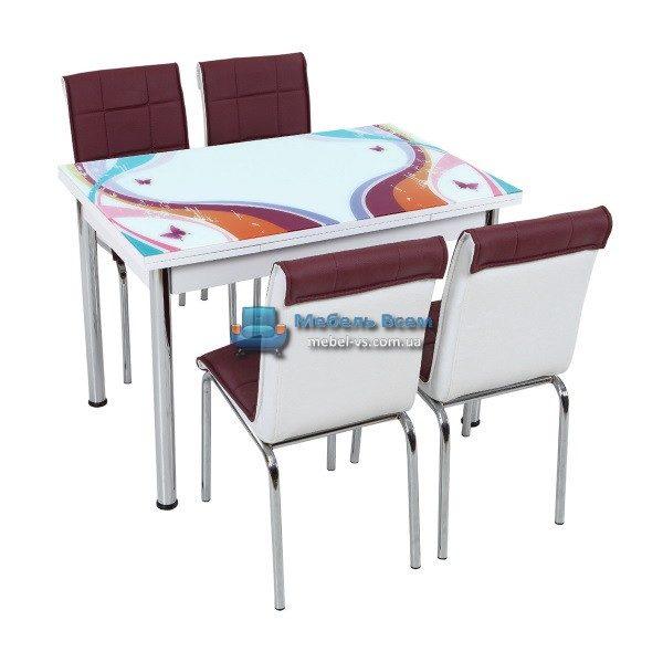 Стол + 4 стула Лотос SK CB-021 70x110-170