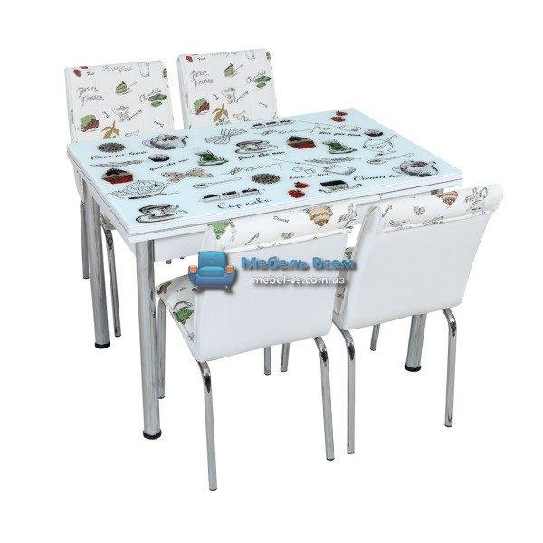 Стол + 4 стула Лотос SK CB-025 70x110-170