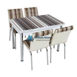 Стол + 4 стула Лотос SK CB-029 70x110-170
