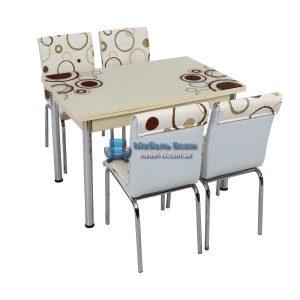 Стол + 4 стула Лотос SK CB-030 70x110-170
