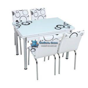 Стол + 4 стула Лотос SK CB-038 70x110-170
