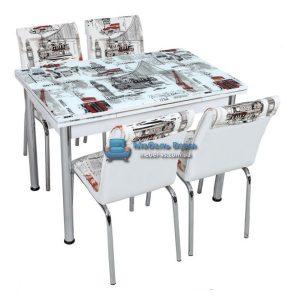 Стол + 4 стула Лотос SK CB-039 70x110-170
