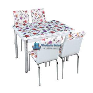Стол + 4 стула Лотос SK CB-042 70x110-170
