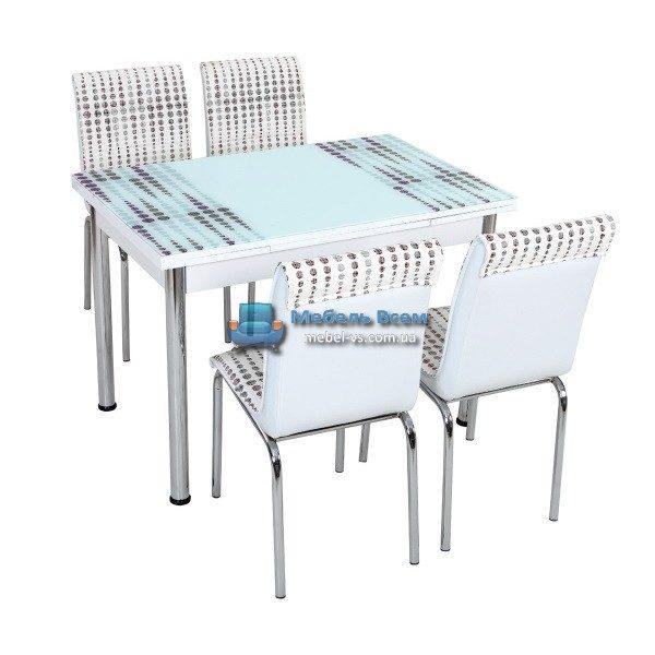 Стол + 4 стула Лотос SK CB-043 70x110-170