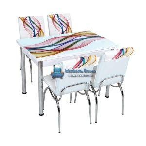 Стол + 4 стула Лотос SK CB-050 70x110-170