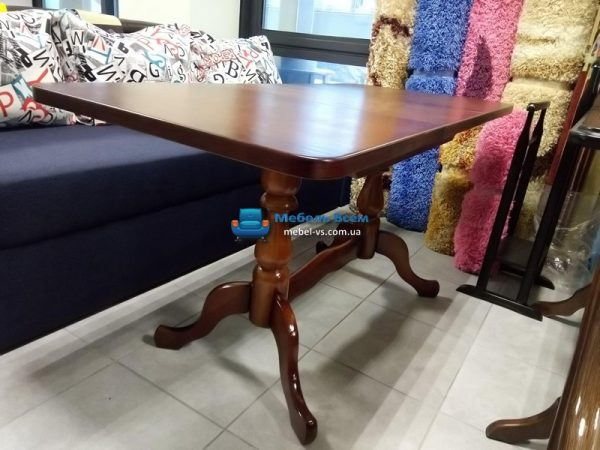 Стол раздвижной ST 110-150х70 фото разложенный в цвете яблоня