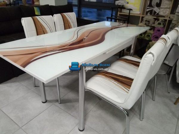 Стол + 4 стула Лотос SK CB-012 70x110-170 фото