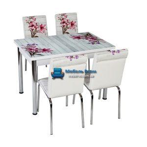 Стол + 4 стула Лотос NK CB-006 70x110-170