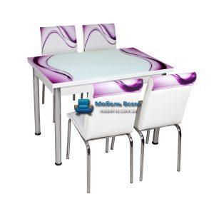 Стол + 4 стула Лотос NK CB-015 70x110-170