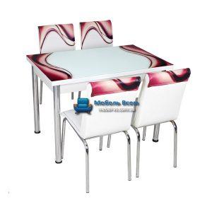 Стол + 4 стула Лотос NK CB-017 70x110-170