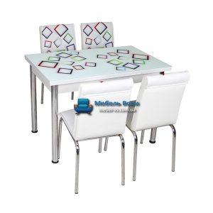 Стол + 4 стула Лотос NK CB-021 70x110-170