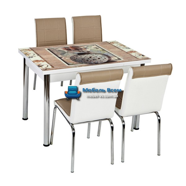 Стол + 4 стула Лотос NK CB-027 70x110-170