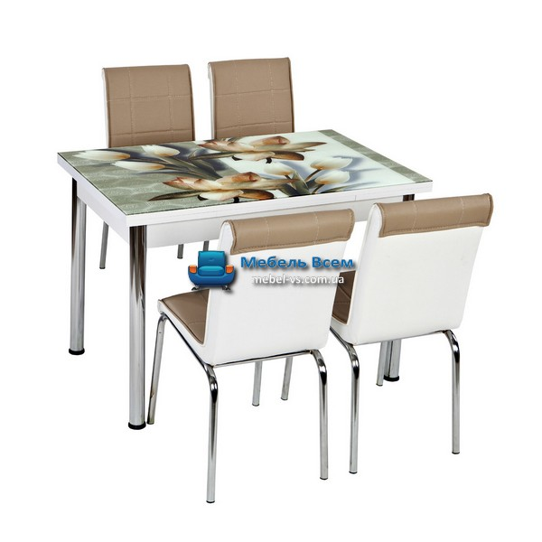 Стол + 4 стула Лотос NK CB-032 70x110-170