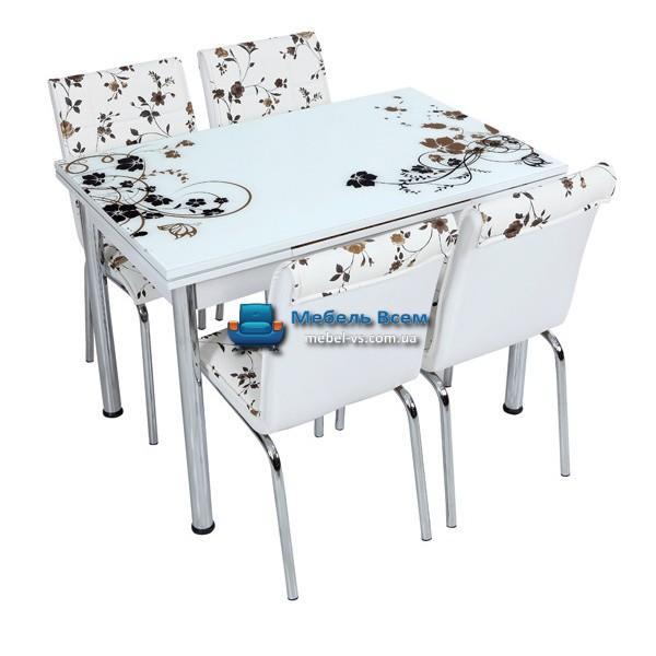 Стол + 4 стула Лотос NK CB-049 70x110-170