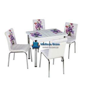 Стол + 4 стула Лотос NK CB-105 60x90-150