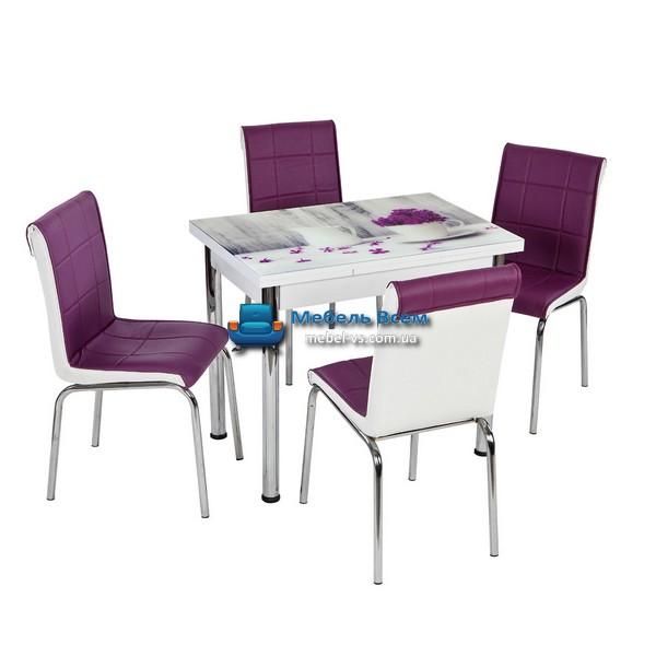 Стол + 4 стула Лотос NK CB-107 60x90-150