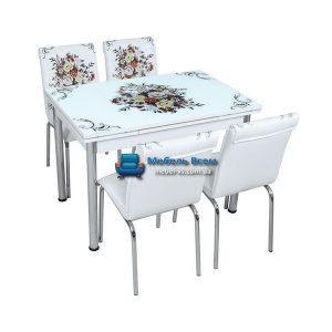 Стол + 4 стула Лотос SK CB-011 70x110-170