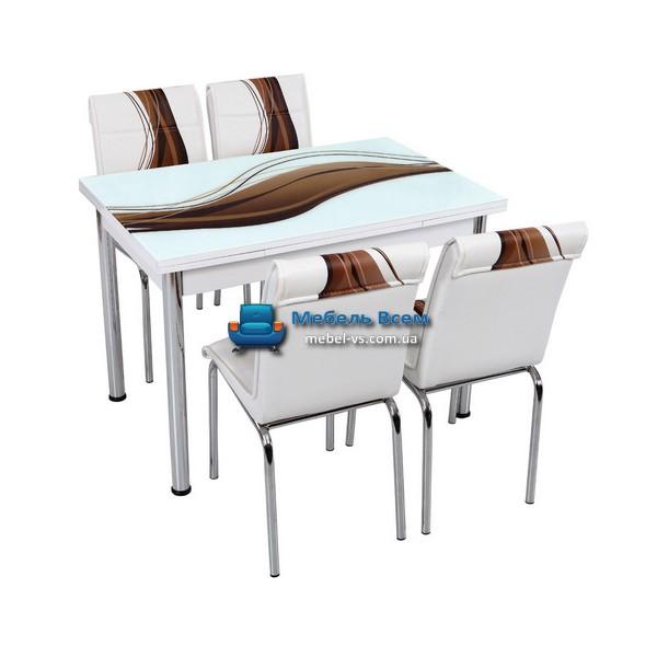 Стол + 4 стула Лотос SK CB-012 70x110-170