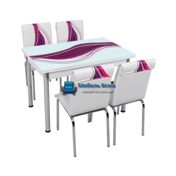Стол + 4 стула Лотос SK CB-013 70x110-170