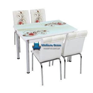 Стол + 4 стула Лотос SK CB-019 70x110-170