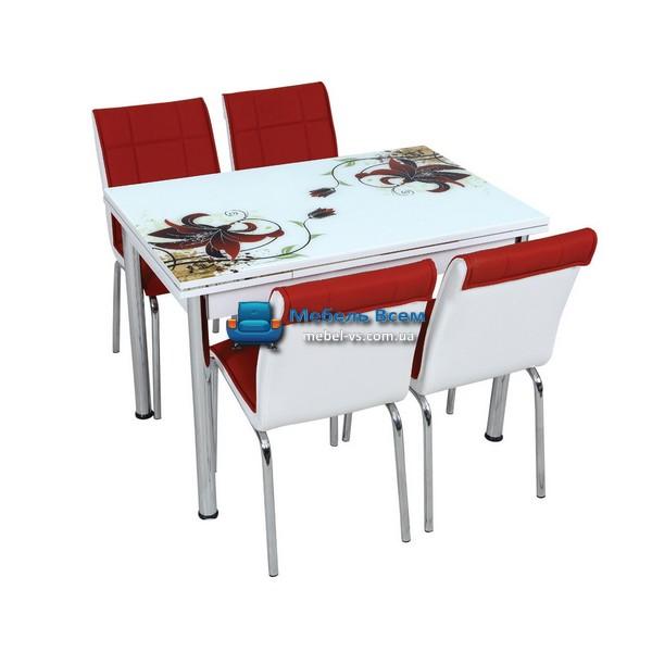 Стол + 4 стула Лотос SK CB-022 70x110-170
