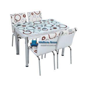 Стол + 4 стула Лотос SK CB-024 70x110-170