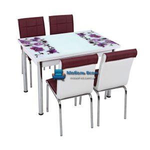 Стол + 4 стула Лотос SK CB-026 70x110-170