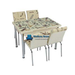 Стол + 4 стула Лотос SK CB-031 70x110-170
