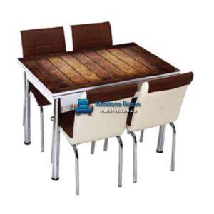 Стол + 4 стула Лотос SK CB-033 70x110-170
