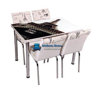 Стол + 4 стула Лотос SK CB-037 70x110-170