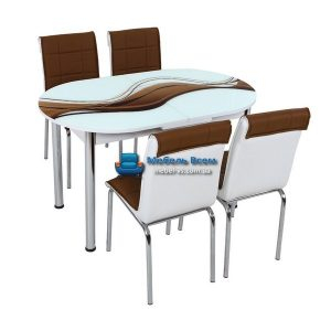 Стол + 4 стула Лотос SK OVAL-005 75x130-160