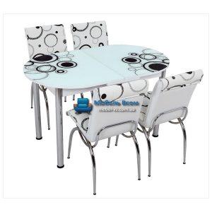 Стол + 4 стула Лотос SK OVAL-011 75x130-160