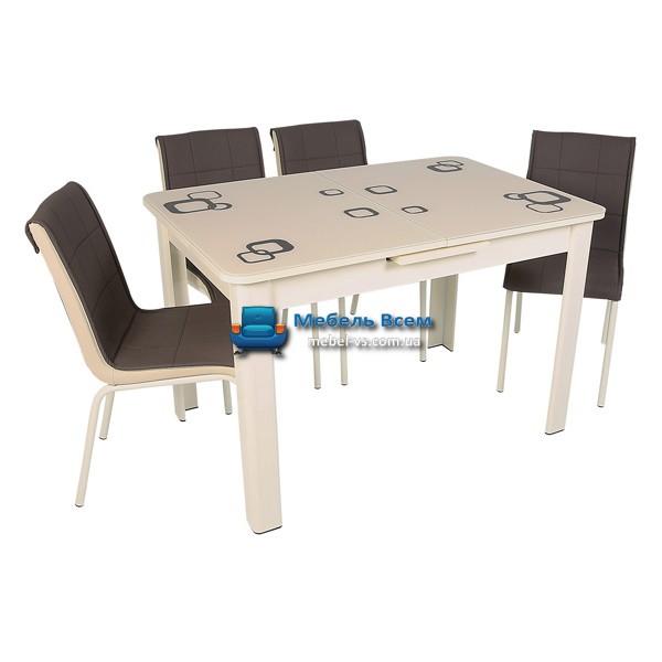 Стол + 4 стула Hamza Takim HT-239-3 80х120-150