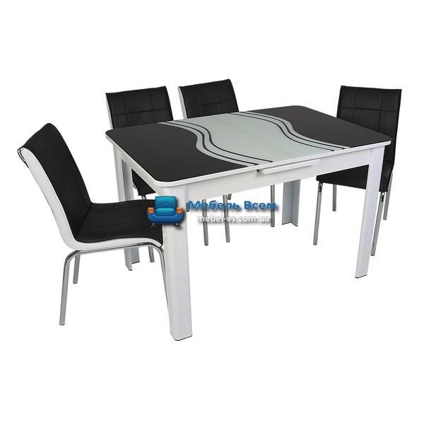 Стол + 4 стула Hamza Takim HT-239-4 80х120-150