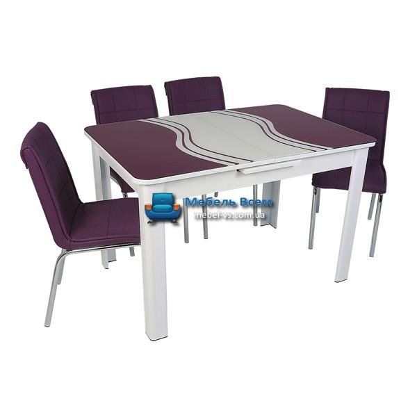 Стол + 4 стула Hamza Takim HT-239-6 80х120-150